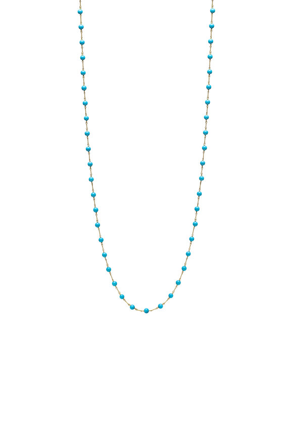 Paul Morelli 18K Yellow Gold Turquoise Beaded Necklace