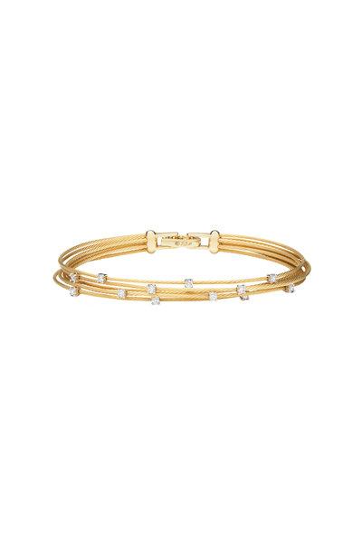 Paul Morelli - 18K Yellow Gold Diamond Wire Bracelet