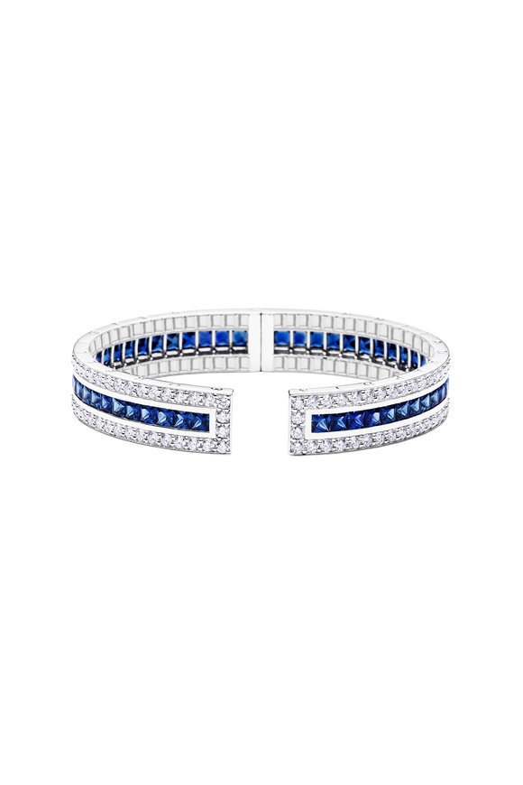 Paul Morelli Blue Sapphire Pinpoint Cuff