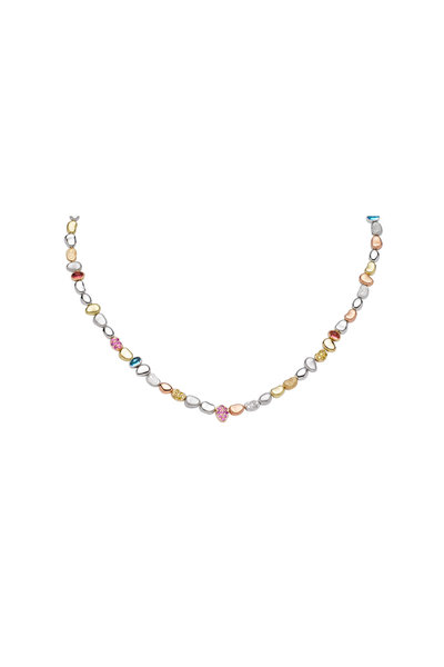 Paul Morelli - 18K Yellow Gold Multi Sapphire Pebble Necklace