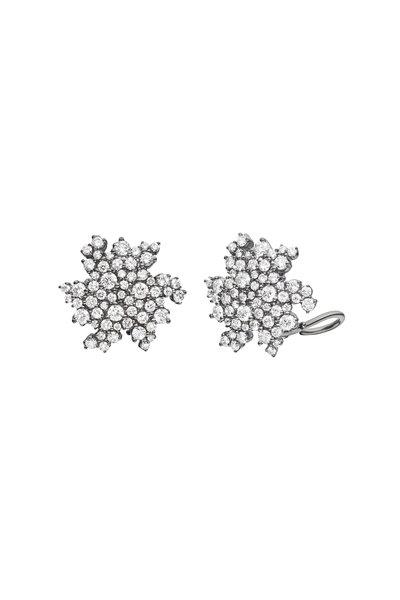 Paul Morelli - 18K White Gold Diamond Star Earrings