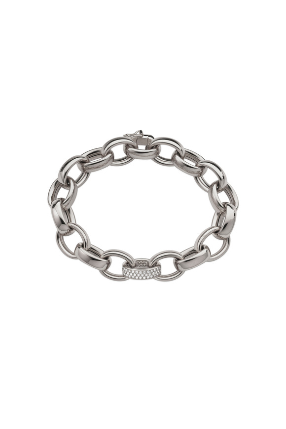 Monica Rich Kosann Marylyn White Gold Diamond Link Bracelet