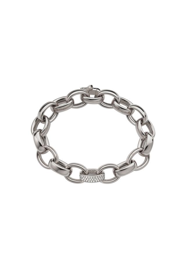 Marylyn White Gold Diamond Link Bracelet