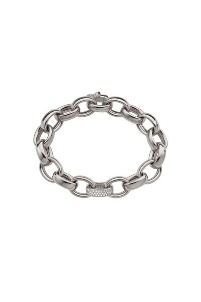 Monica Rich Kosann - Marylyn White Gold Diamond Link Bracelet