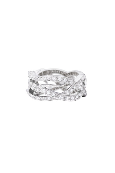 Paul Morelli - 18K White Gold Diamond Art Noveau Ring