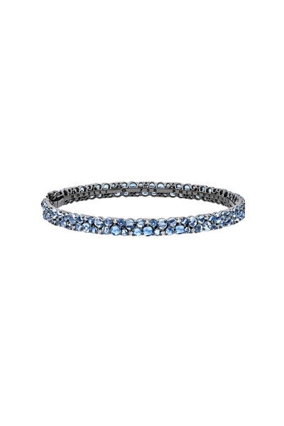 Paul Morelli - Aqua & White Gold Stack Bracelet