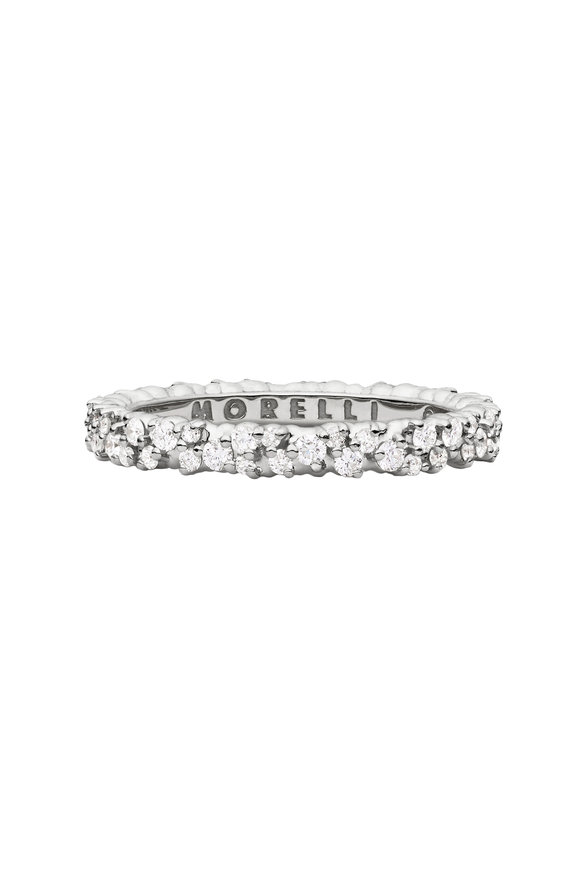 Paul Morelli 18K White Gold Diamond Confetti Band