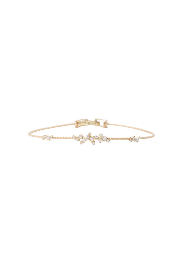 Paul Morelli 18K Yellow Gold Diamond Confetti Wire Bracelet