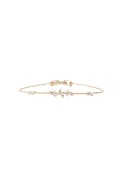 Paul Morelli - 18K Yellow Gold Diamond Confetti Wire Bracelet
