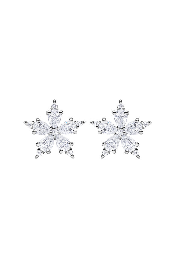 Paul Morelli 18K White Gold Diamond Stellanise Studs