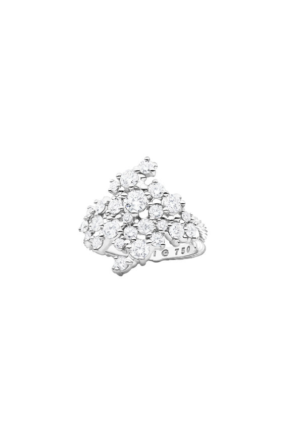 Paul Morelli 18K White Gold Diamond Confetti Cluster Ring