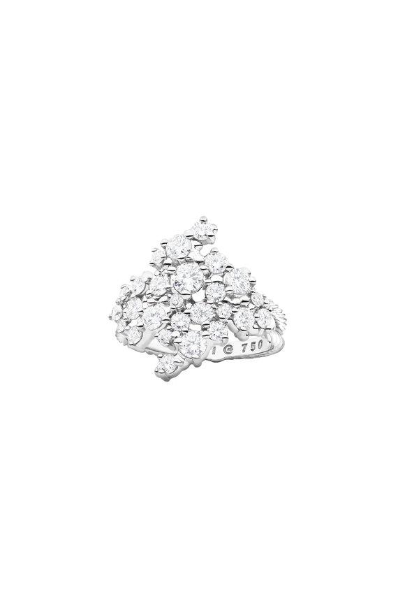 Paul Morelli 18K White Gold Diamond Confetti Cluster Ring