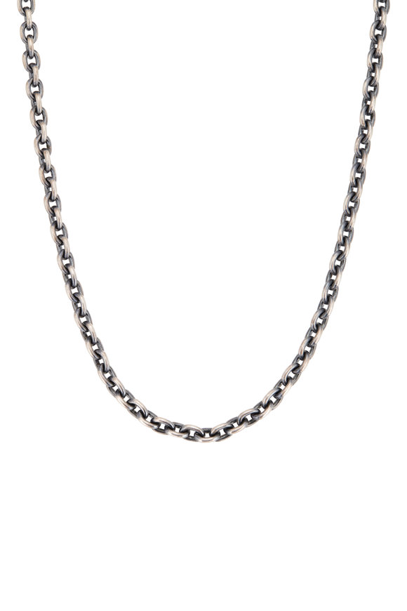 Tina Negri Sterling Silver Chunky Chain Necklace