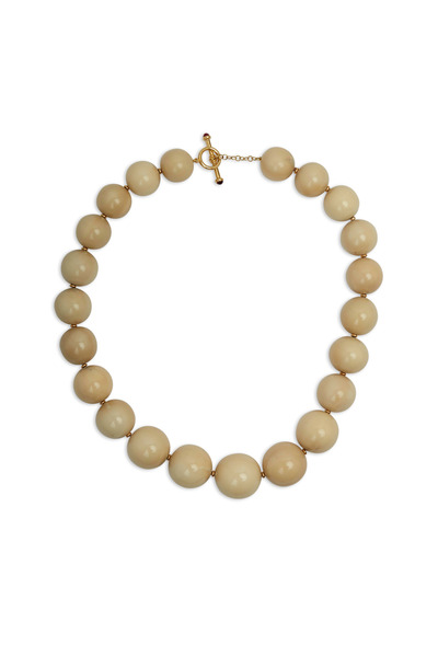 Syna - Yellow Gold Tagua Nuts Necklace