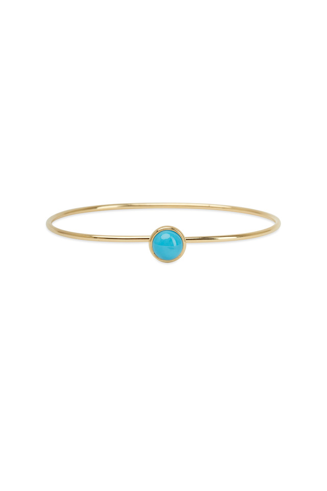 Baubles Yellow Gold Turquoise Stack Bracelet