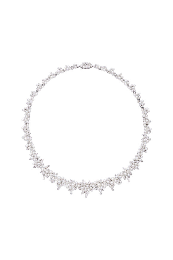 Paul Morelli LAGRANGE PEARL & DIAMOND NECKLACE