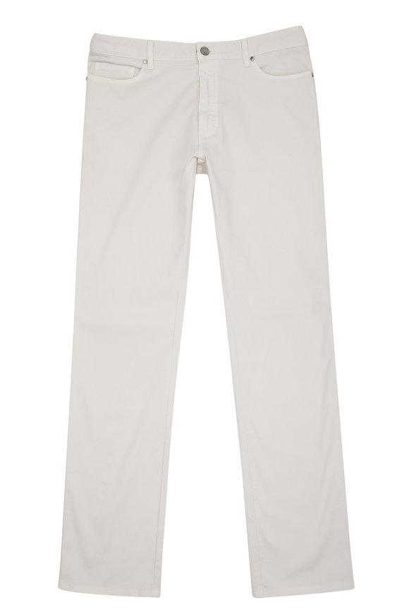 Ermenegildo Zegna Stone Stretch Cotton Twill Five Pocket Pant