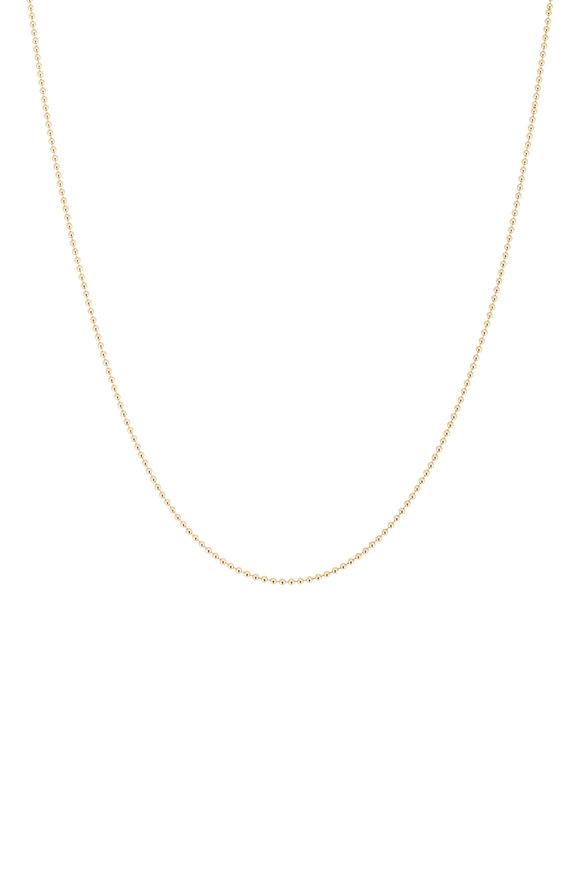 Tina Negri 18K Yellow Gold Beaded Necklace