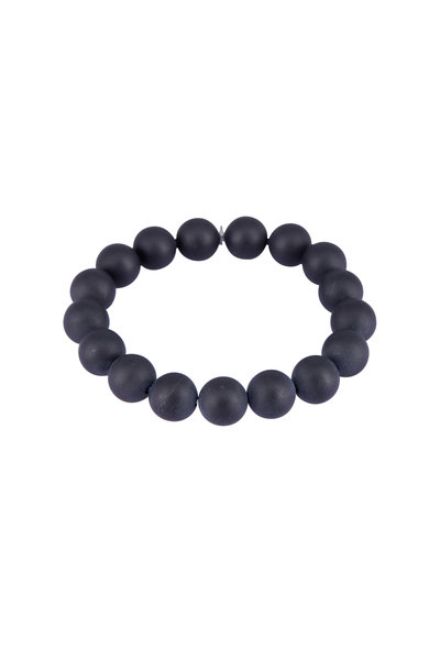 Tina Negri - Matte Black Onyx Beaded Bracelet