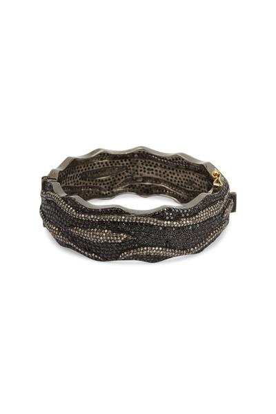 Loriann - Gold Wavy Black Spinel Bracelet