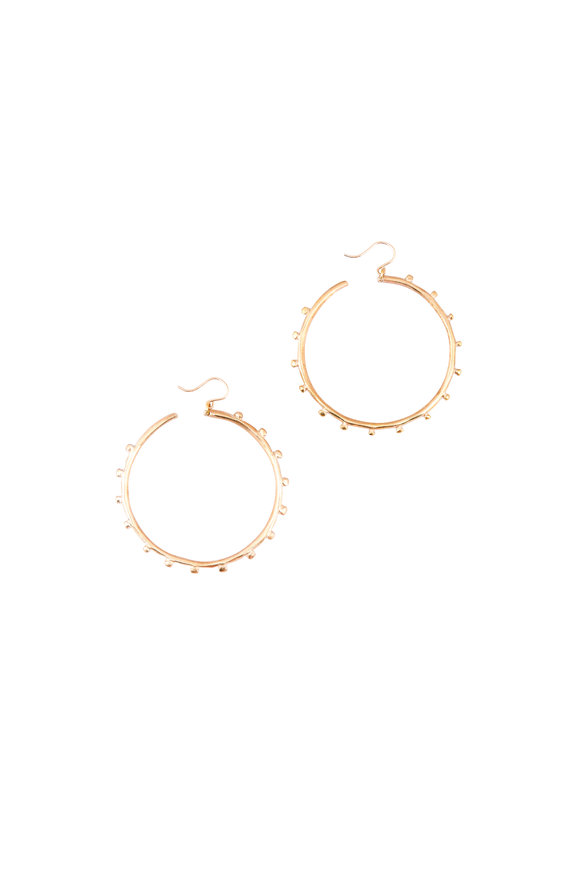 Ashley Pittman Bronze Studded Teli Hoops