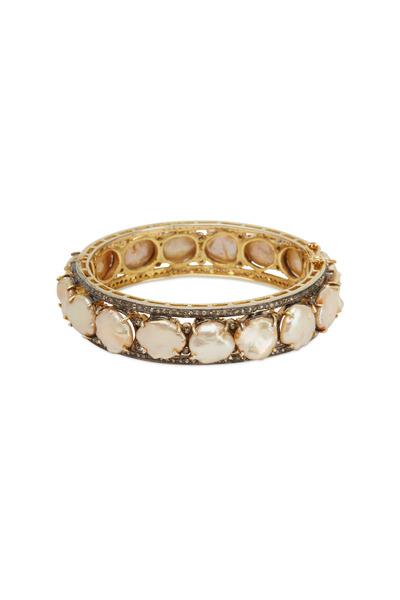 Loriann - Yellow Gold Coin Flat Pear Diamond Bracelet