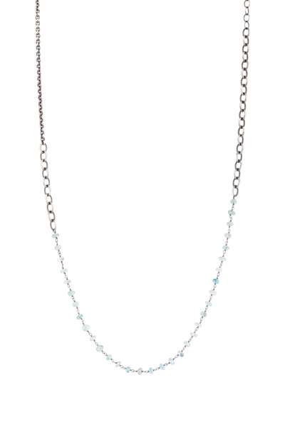 Tina Negri - Sterling Silver & Zircon Necklace