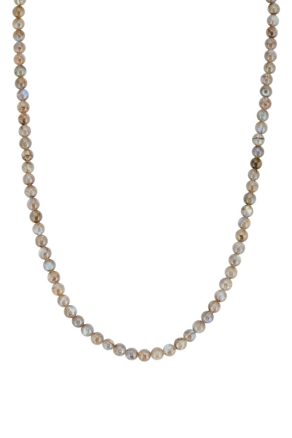 Tina Negri Sterling Silver Labradorite Beaded Necklace