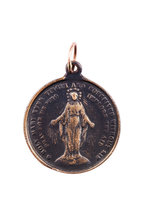 Tina Negri - 18K Gold & Bronze Vintage Coin Pendant