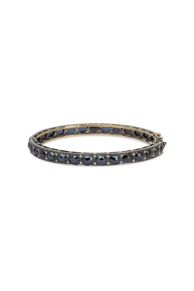 Loriann - Thin Black Spinel Bracelet