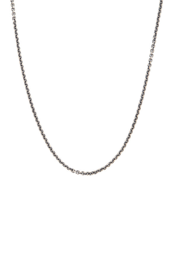 Tina Negri 18K White Gold & Silver Cable Necklace