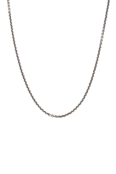 Tina Negri - 18K White Gold & Silver Cable Necklace