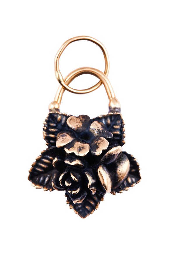 Tina Negri 18K Gold & Bronze Flower Pendant