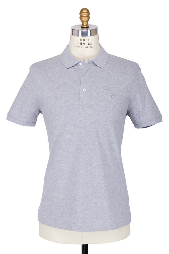 Lacoste Grey Stretch Cotton Slim Fit Polo