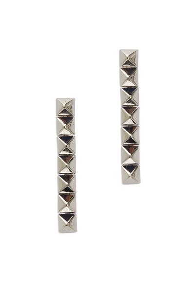 Eddie Borgo - Sterling Silver Pyramid Dangle Earrings