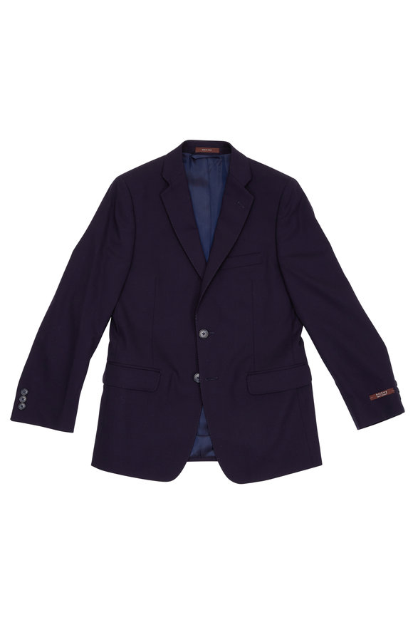 Hickey Freeman Children Boy's Hudson Navy Blue Wool Suit