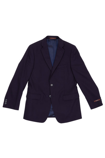 Hickey Freeman Children - Boy's Hudson Navy Blue Wool Suit