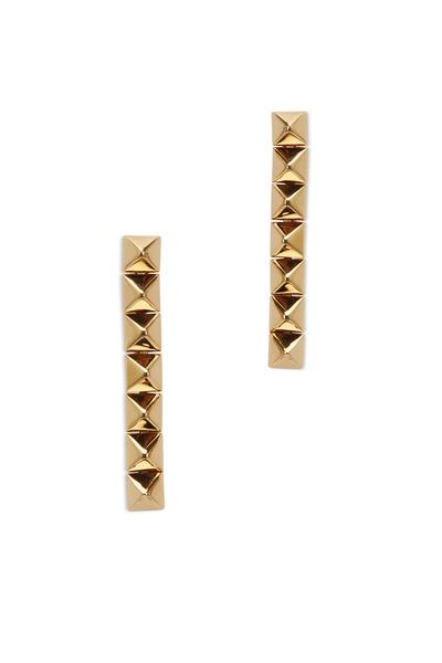 Eddie Borgo - Yellow Gold Plate Pyramid Dangle Earrings