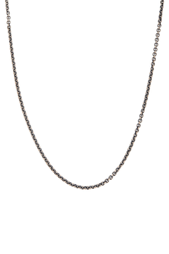 Tina Negri Silver Round Cable Necklace