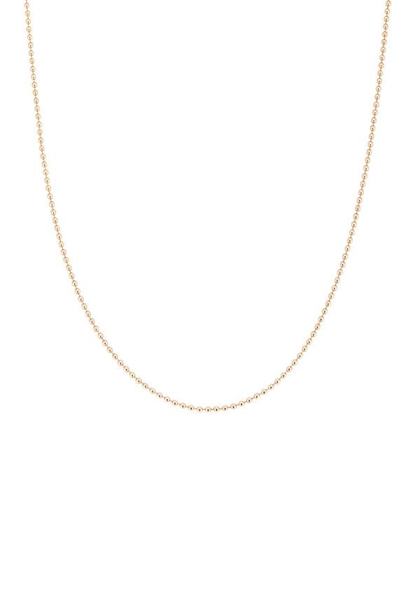 Tina Negri 14K Yellow Gold Beaded Necklace