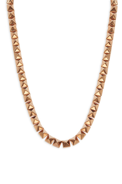 Eddie Borgo - Rose Gold Pyramid Necklace