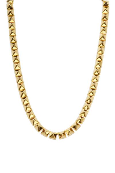 Eddie Borgo - Yellow Gold Pyramid Necklace