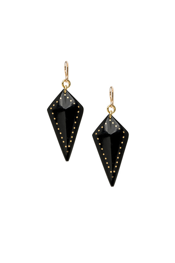 Ashley Pittman Dark Brown Diamond Radi Earrings