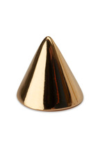 Eddie Borgo - Yellow Gold Plated Cone Stud Earrings