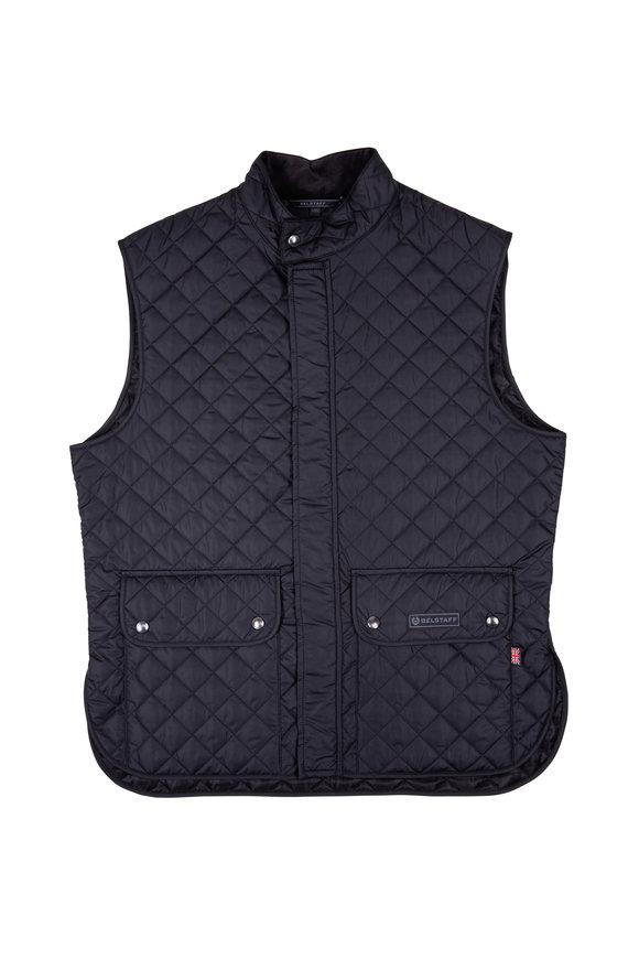 Belstaff Black Quilted Nylon Vest