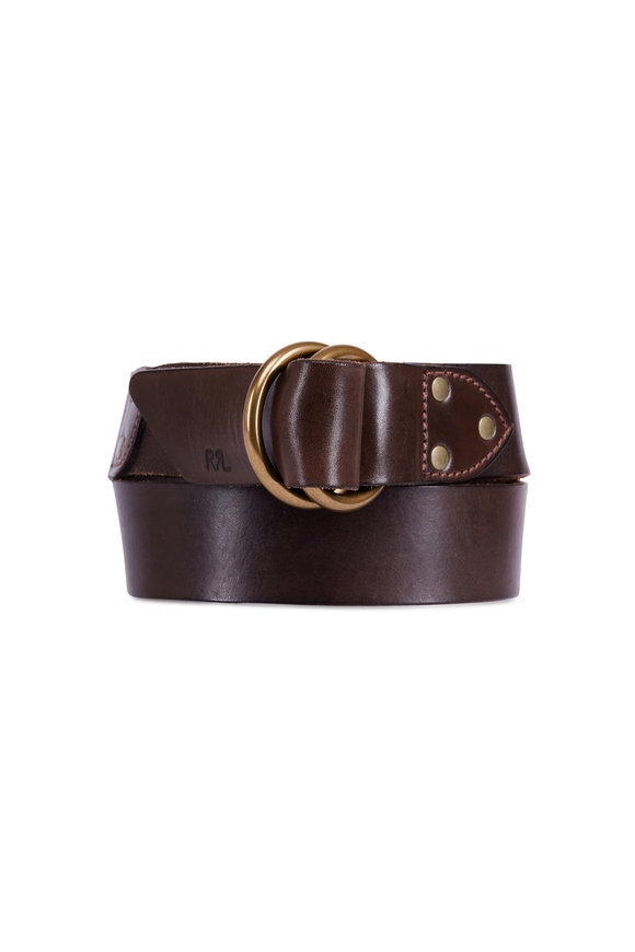 RRL Double Ring Leather Belt
