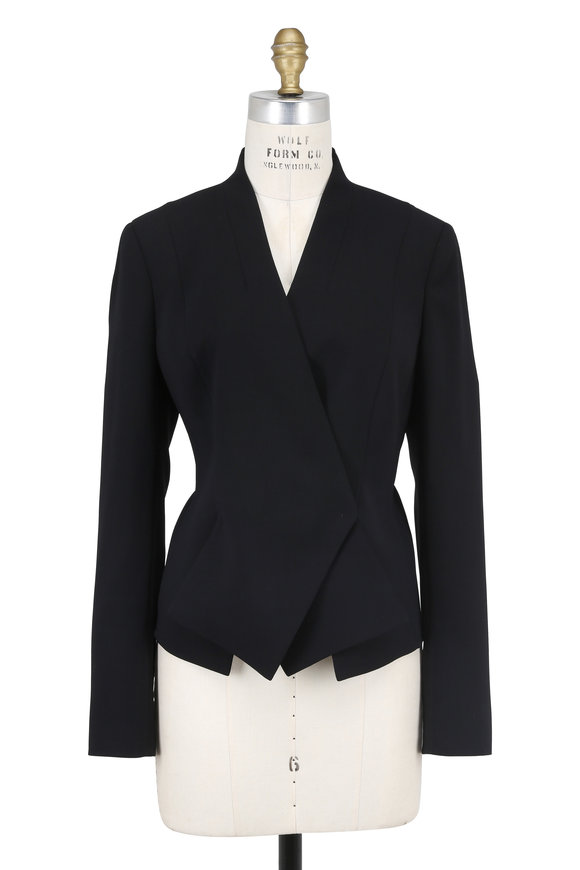 Akris Black Double-Faced Wool Origami Jacket