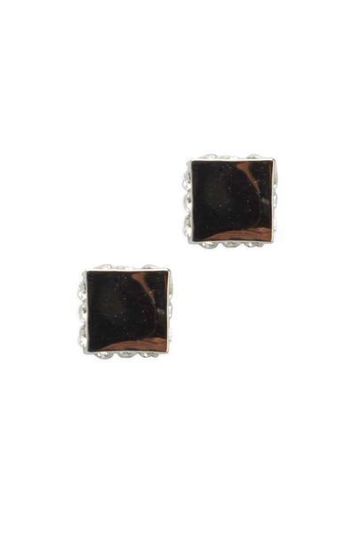 Eddie Borgo - Sterling Silver Pavé-Set Cube Stud Earrings