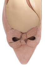Jimmy Choo - Blare Ballet Pink Suede Bow Slingback, 60mm