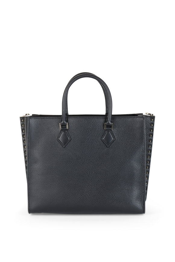 Valentino Rockstud Black Leather Tote